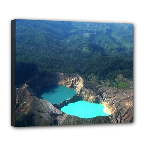 Kelimutu Crater Lakes  Indonesia Deluxe Canvas 24  X 20