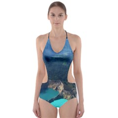 Kelimutu Crater Lakes  Indonesia Cut Out One Piece Swimsuit