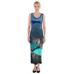Kelimutu Crater Lakes  Indonesia Fitted Maxi Dress