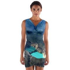 Kelimutu Crater Lakes  Indonesia Wrap Front Bodycon Dress