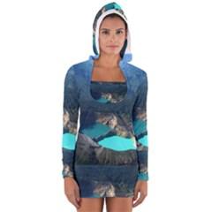 Kelimutu Crater Lakes  Indonesia Long Sleeve Hooded T Shirt