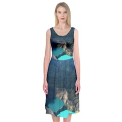 Kelimutu Crater Lakes  Indonesia Midi Sleeveless Dress