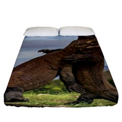 Komodo Dragons Fight Fitted Sheet (king Size)