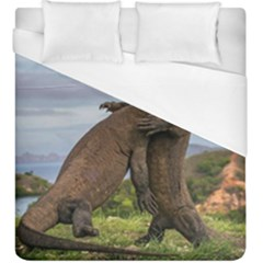 Komodo Dragons Fight Duvet Cover (king Size)