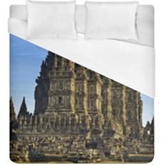 Prambanan Temple Duvet Cover (king Size) by Nexatart