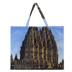 Prambanan Temple Zipper Large Tote Bag by Nexatart