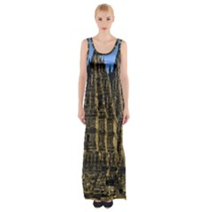 Prambanan Temple Maxi Thigh Split Dress by Nexatart