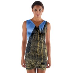 Prambanan Temple Wrap Front Bodycon Dress