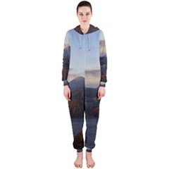 Sunrise Mount Bromo Tengger Semeru National Park  Indonesia Hooded Jumpsuit (ladies)