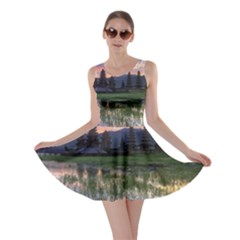 Tamblingan Morning Reflection Tamblingan Lake Bali  Indonesia Skater Dress