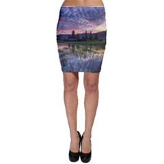Tamblingan Morning Reflection Tamblingan Lake Bali  Indonesia Bodycon Skirt