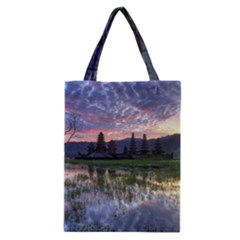 Tamblingan Morning Reflection Tamblingan Lake Bali  Indonesia Classic Tote Bag by Nexatart