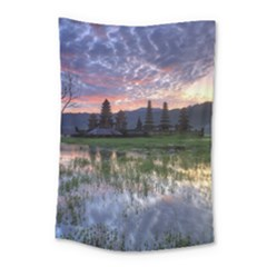 Tamblingan Morning Reflection Tamblingan Lake Bali  Indonesia Small Tapestry