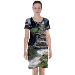 Tanah Lot Bali Indonesia Short Sleeve Nightdress