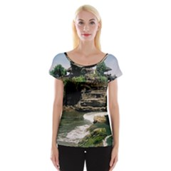 Tanah Lot Bali Indonesia Cap Sleeve Tops