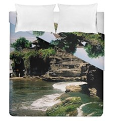 Tanah Lot Bali Indonesia Duvet Cover Double Side (queen Size)