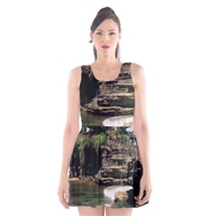 Tanah Lot Bali Indonesia Scoop Neck Skater Dress