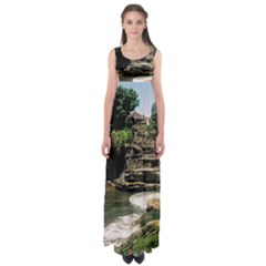 Tanah Lot Bali Indonesia Empire Waist Maxi Dress