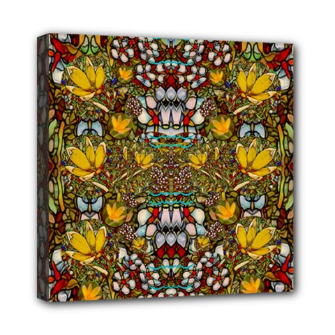Fantasy Forest And Fantasy Plumeria In Peace Mini Canvas 8  X 8  by pepitasart