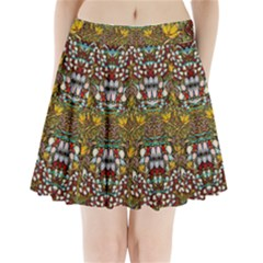 Fantasy Forest And Fantasy Plumeria In Peace Pleated Mini Skirt by pepitasart
