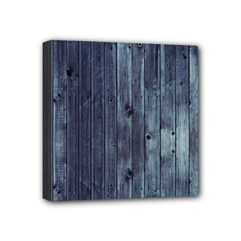 Grey Fence 2 Mini Canvas 4  X 4  by trendistuff