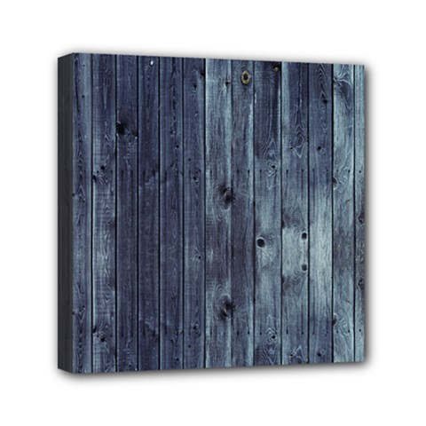 Grey Fence 2 Mini Canvas 6  X 6  by trendistuff