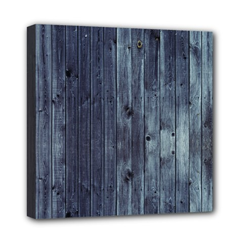 Grey Fence 2 Mini Canvas 8  X 8  by trendistuff