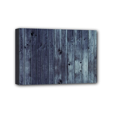 Grey Fence 2 Mini Canvas 6  X 4  by trendistuff