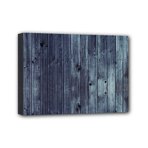 Grey Fence 2 Mini Canvas 7  X 5  by trendistuff