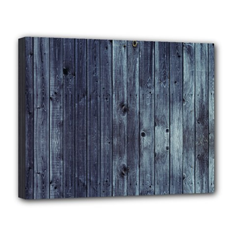 Grey Fence 2 Canvas 14  X 11  by trendistuff