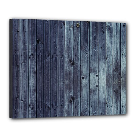 Grey Fence 2 Canvas 20  X 16  by trendistuff