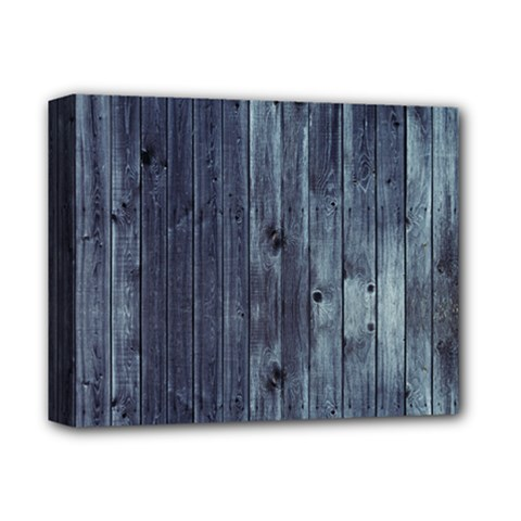 Grey Fence 2 Deluxe Canvas 14  X 11  by trendistuff