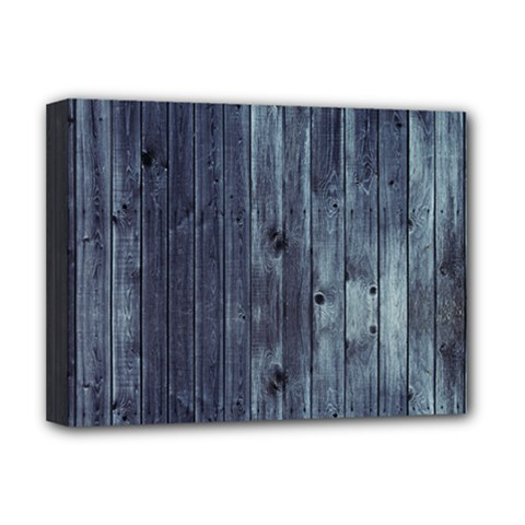 Grey Fence 2 Deluxe Canvas 16  X 12   by trendistuff