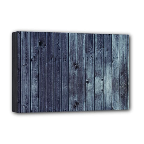 Grey Fence 2 Deluxe Canvas 18  X 12   by trendistuff