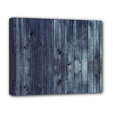 Grey Fence 2 Deluxe Canvas 20  X 16   by trendistuff