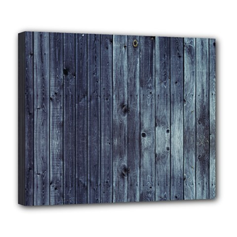 Grey Fence 2 Deluxe Canvas 24  X 20   by trendistuff