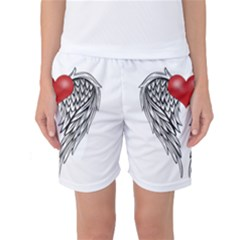 Angel Heart Tattoo Women s Basketball Shorts