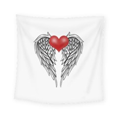 Angel Heart Tattoo Square Tapestry (small) by Valentinaart