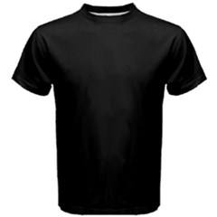 Black Men s Cotton Tee by digitaldivadesigns
