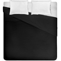 Black Duvet Cover Double Side (king Size) by theunrulyartist