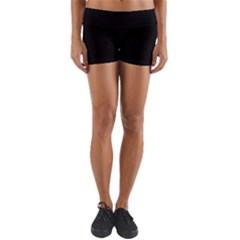 Black Yoga Shorts by theunrulyartist