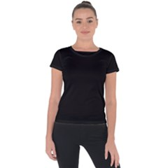 Black Short Sleeve Sports Top  by theunrulyartist