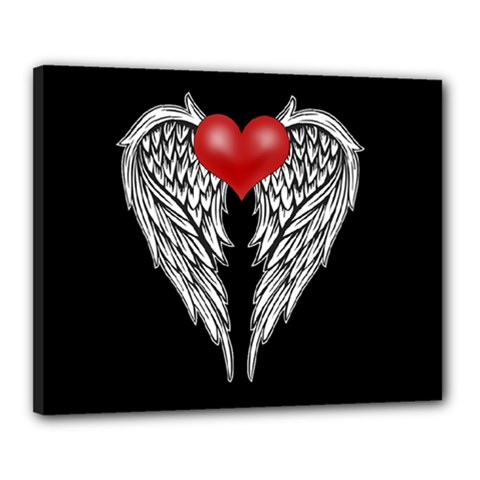 Angel Heart Tattoo Canvas 20  X 16  by Valentinaart