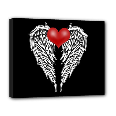 Angel Heart Tattoo Deluxe Canvas 20  X 16   by Valentinaart