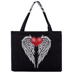 Angel Heart Tattoo Mini Tote Bag by Valentinaart