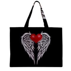 Angel Heart Tattoo Zipper Mini Tote Bag by Valentinaart