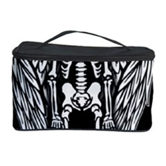 Angel Skeleton Cosmetic Storage Case by Valentinaart