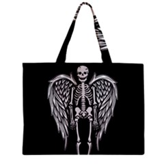 Angel Skeleton Zipper Mini Tote Bag by Valentinaart