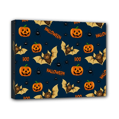 Bat, Pumpkin And Spider Pattern Canvas 10  X 8  by Valentinaart