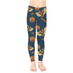 Bat, Pumpkin And Spider Pattern Kids  Legging by Valentinaart